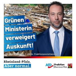 Flutkatastrophe im Ausschuss – Umweltministerin Spiegel kam aus dem Schweigen nicht raus!
