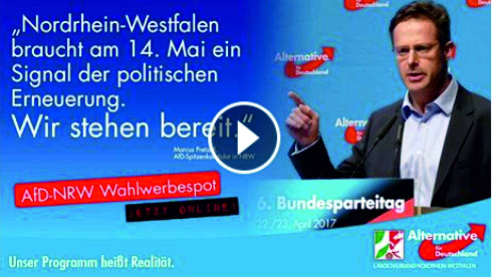 AfD NRW Wahlwerbespot 2017 – Sein Programm heisst Realität