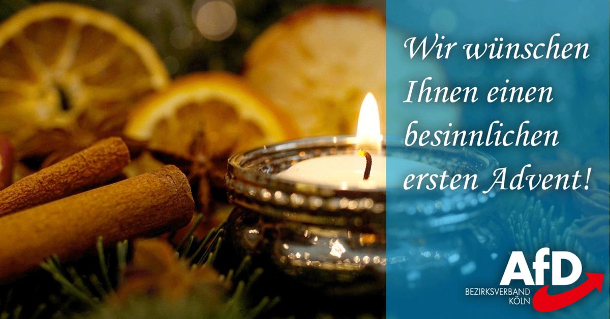 Einen schönen ersten Advent! | AfD Bezirk Köln