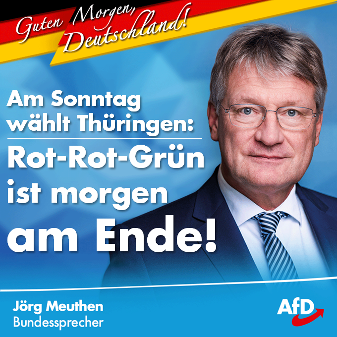 Jorg Meuthen Zur Landtagswahl In Thuringen Afd Kreis Bielefeld