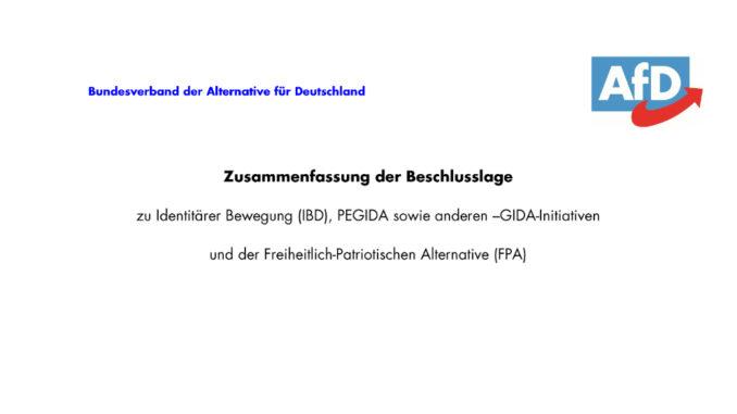 Zusammenfassung Der Aktuellen Beschlusslage Zu Pegida Gida Ib Und