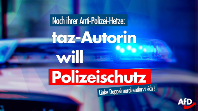 Taz Autorin Polizeischutz